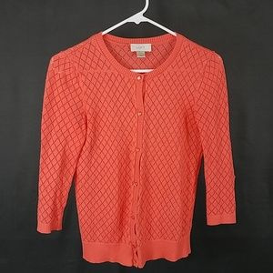 3 for $12- LOFT coral small Cardigan